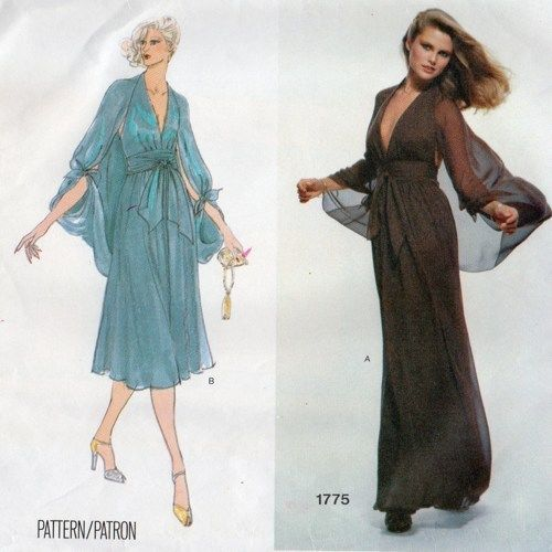 1970s Vintage Vogue Sewing Pattern Dress B36 Quot 1859 By
