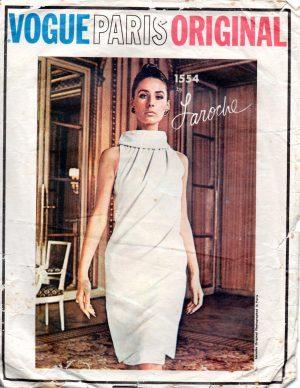 Pierre Cardin 1422 1965 Vintage VOGUE Sewing Pattern DRESS /& COAT B32