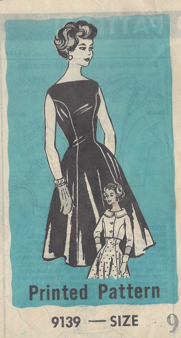 1950s-Vintage-Sewing-Pattern-B30-12-DRESS-JACKET-R300-251321059567-2-600×1118