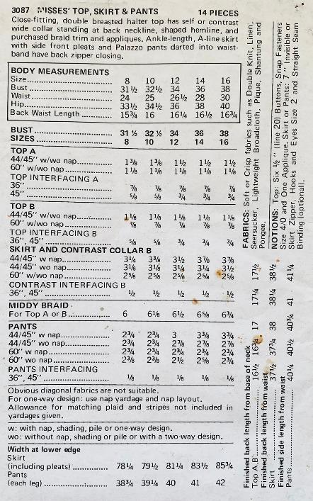 Screenshot 2021-07-07 at 19-35-50 Vintage 1970s Butterick 3087 Womens Halter Top Pants Etsy