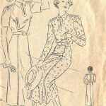 1930s-Vintage-VOGUE-Sewing-Pattern-B36-ONE-PIECE-DRESS-FROCK-1384-261729857870