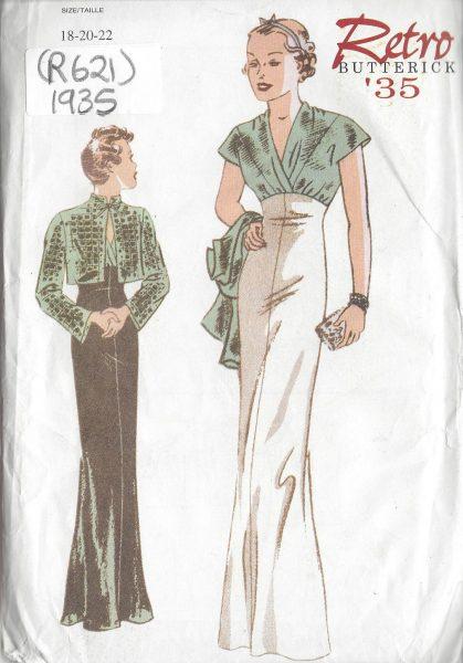 1935-Vintage-Sewing-Pattern-DRESS-JACKET-B40-42-44-R621-251158379160