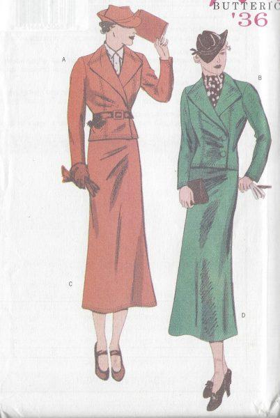 1936-Vintage-Sewing-Pattern-B34-36-38-SUIT-SKIRT-JACKET-R775-251185832330