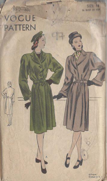 1940s-Vintage-VOGUE-Sewing-Pattern-B36-COAT-97-251173704260