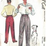 1940s-WW2-Vintage-Sewing-Pattern-W38-MENS-PANTS-TROUSERS-1311-261548622510