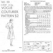 1943-WW2-Vintage-VOGUE-Sewing-Pattern-B30-COAT-1131-261308353110-2