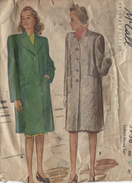 1945-Vintage-Sewing-Pattern-B32-COAT-102-251173699290