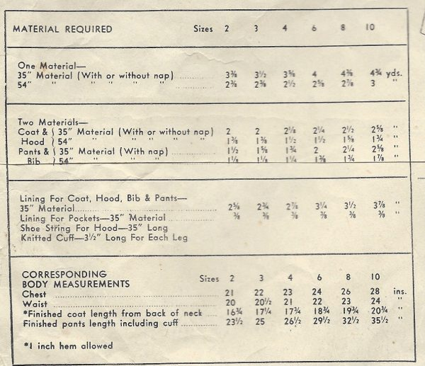 1947-Childrens-Vintage-Sewing-Pattern-S3-C22-SNOW-SUIT-JACKET-C2-251567899330-2