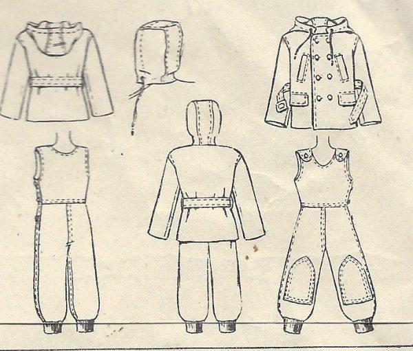 1947-Childrens-Vintage-Sewing-Pattern-S3-C22-SNOW-SUIT-JACKET-C2-251567899330-3