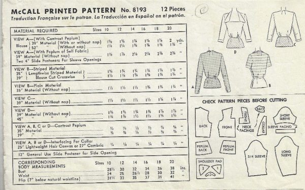 1950-Vintage-Sewing-Pattern-B32-BLOUSE-1803-262919131740-2