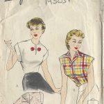 1950s-Vintage-Sewing-Pattern-BLOUSE-B34-R548-251142298420