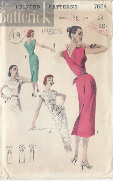 1950s-Vintage-Sewing-Pattern-DRESS-B36-S18-19-251141662050