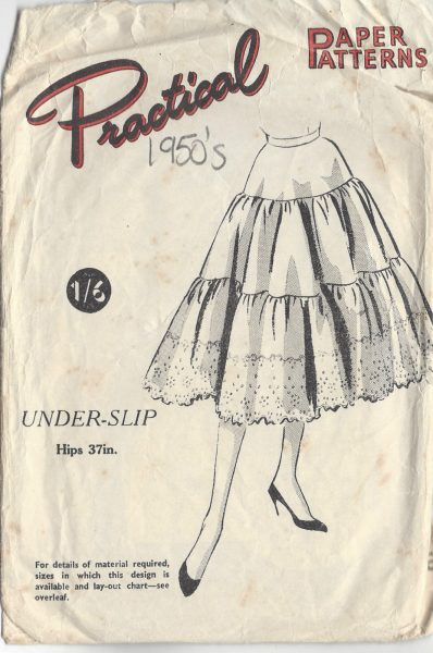1950s-Vintage-Sewing-Pattern-W26-UNDER-SLIP-PETTICOAT-R735-261968536530