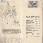 1955-Vintage-VOGUE-Sewing-Pattern-B30-ONE-PIECE-DRESS-SLIP-1768-252704168710-2