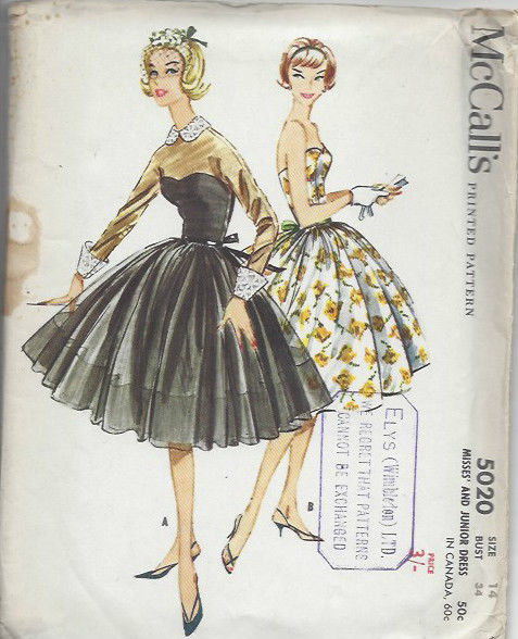 1959-Vintage-Sewing-Pattern-B34-DRESS-1455-252020750310