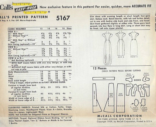 1959-Vintage-Sewing-Pattern-B34-DRESS-1457-261959908380-2