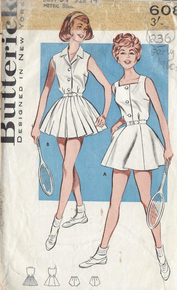 1960s-Vintage-Sewing-Pattern-B34-TENNIS-DRESS-1236-261457452520
