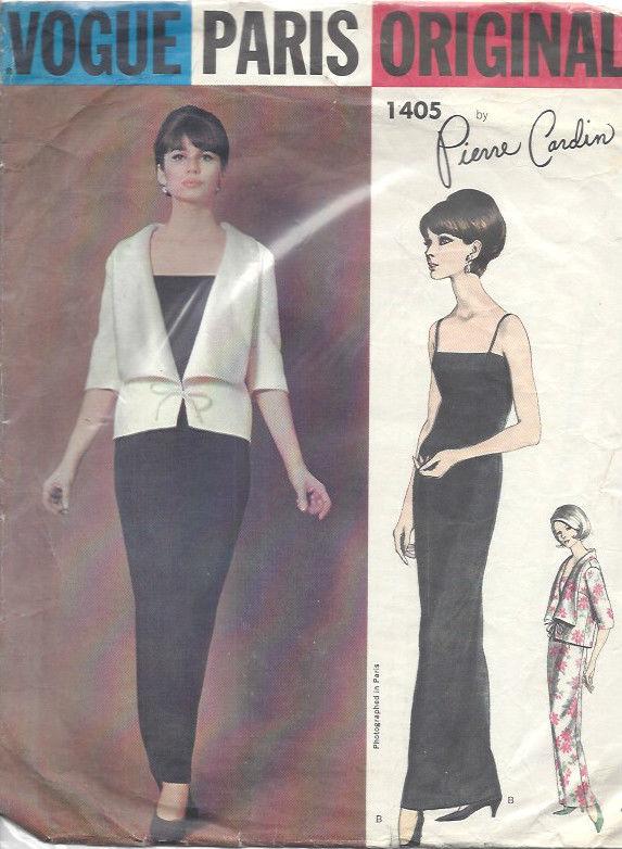 1964 Vintage Vogue Sewing Pattern B34 Jacket Dress 1518r Pierre
