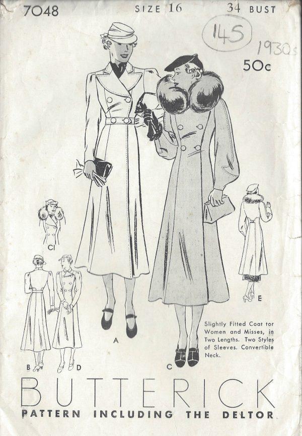 1930s-Vintage-Sewing-Pattern-COAT-B34-145-251147619731