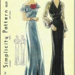 1939-Vintage-Sewing-Pattern-B38-EVENING-DRESS-R959-251264237321