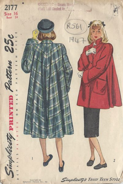 1940s-Vintage-Sewing-Pattern-COAT-B34-R561-251142409711