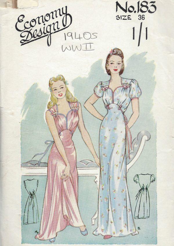 1940s WW2 Vintage Sewing Pattern B36\