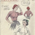 1952-Vintage-Sewing-Pattern-B36-BLOUSE-1813-252879910311