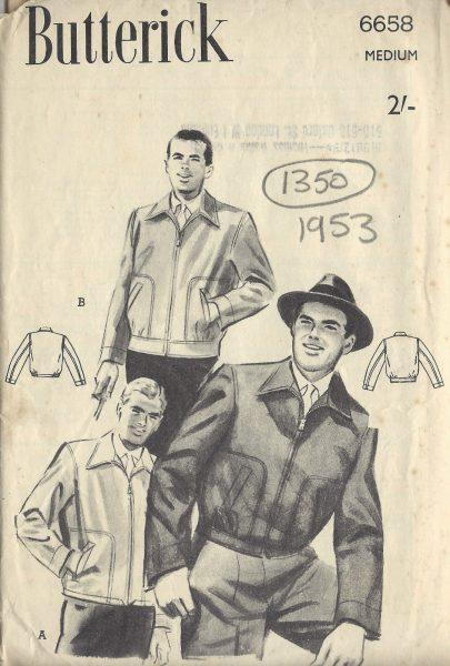 1953-Vintage-Sewing-Pattern-MENS-JACKET-C38-40-1350-251728439141