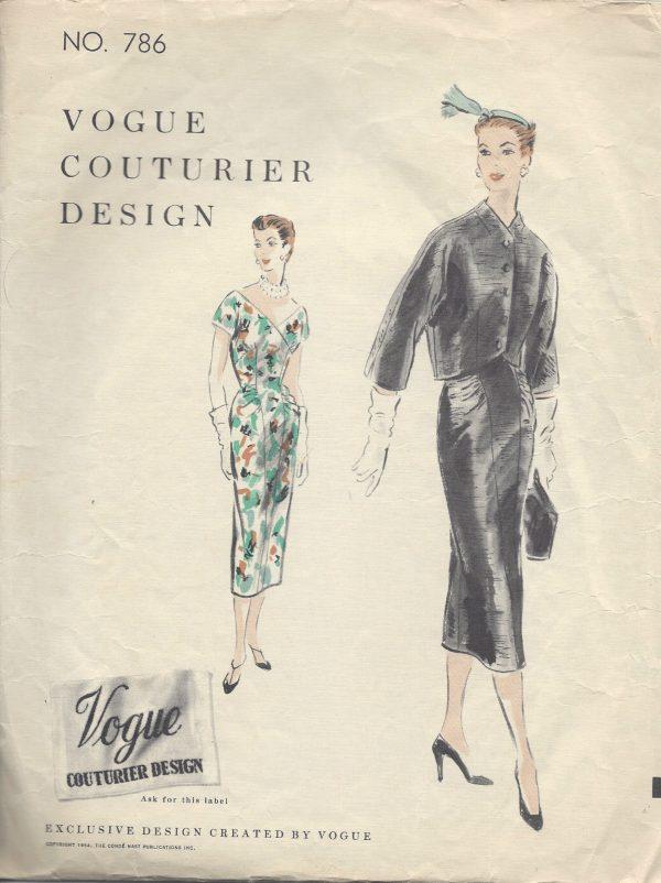 1954 Vintage VOGUE Sewing Pattern B32