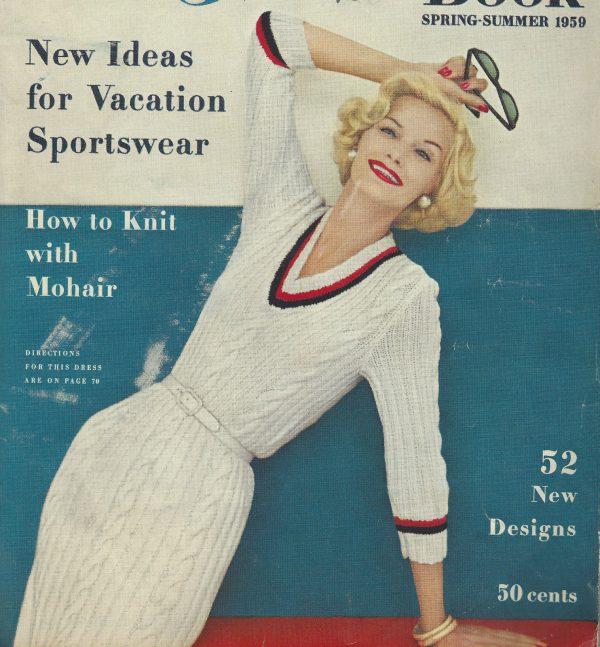1959-Vintage-KNITTING-Pattern-DRESS-V88-By-VOGUE-252223243401