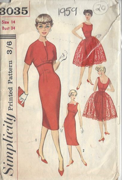 1959-Vintage-Sewing-Pattern-DRESS-B34-S14-20-251141666901