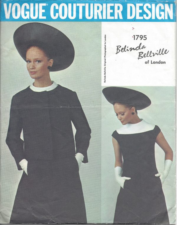 1960s-Vintage-VOGUE-Sewing-Pattern-B34-DRESS-JACKET-1033-Belinda-Bellville-251292449851