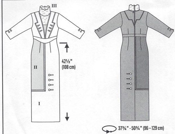 1900s-Edwardian-Vintage-Sewing-Pattern-DRESS-B36-38-40-42-44-46-48-50-1143-261447487422-4