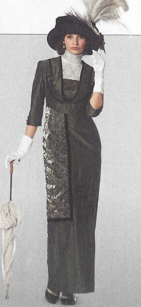 1900s-Edwardian-Vintage-Sewing-Pattern-DRESS-B36-38-40-42-44-46-48-50-1143-261447487422