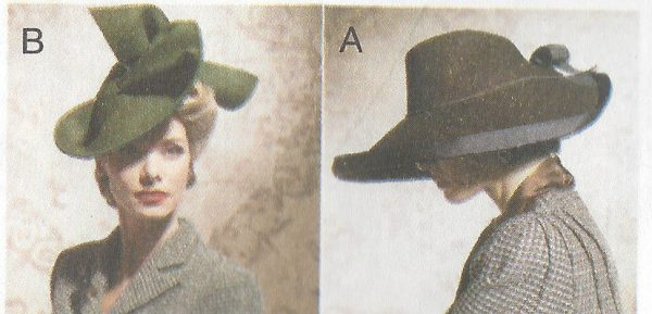 1930s-1940s-Vintage-Sewing-Pattern-HATS-ONE-SIZE-1098-261278073422-2