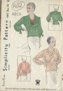 1930s-Vintage-Sewing-Pattern-B34-BLOUSE-1452-261954791532