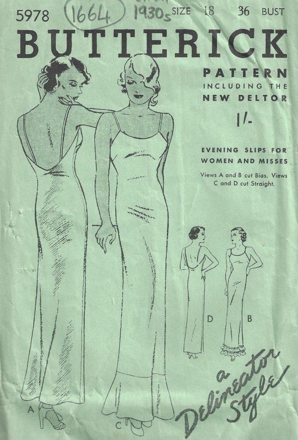 1930s-Vintage-Sewing-Pattern-B36-SLIP-1664-252407212062