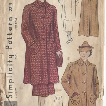 40s Vintage Jacket Patterns Including Coats And Suits Stunning Coat Pattern