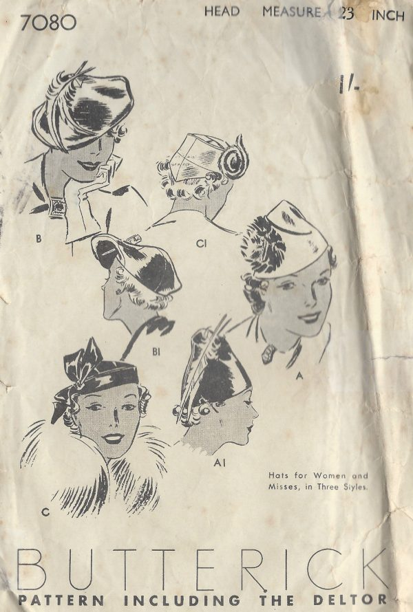 1930s-Vintage-Sewing-Pattern-HATS-SIZE-23-1279-251563902782