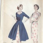 1950s-Vintage-Sewing-Pattern-B34-REDINGOTE-DRESS-R7-251144912072