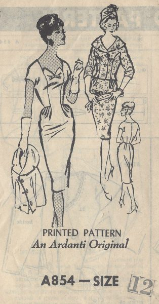 1950s-Vintage-Sewing-Pattern-DRESS-JACKET-B32-R525-An-Ardanti-Original-251142448072
