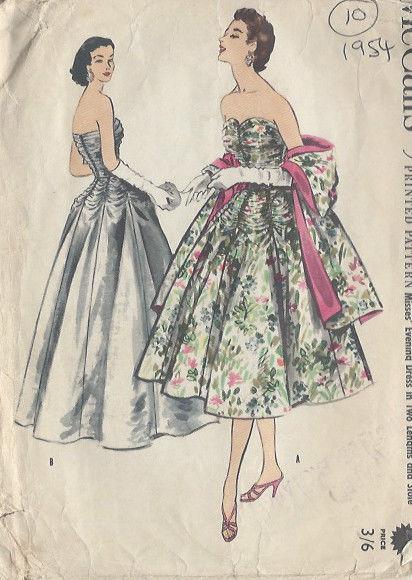 1954-Vintage-Sewing-Pattern-DRESS-B36-S-18-10-251141655342