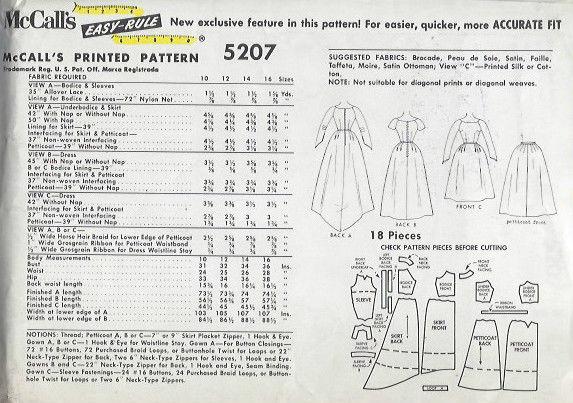 1959-Vintage-Sewing-Pattern-B34-BRIDES-BRIDESMAIDS-DRESS-PETTICOAT-1459-252020769522-2