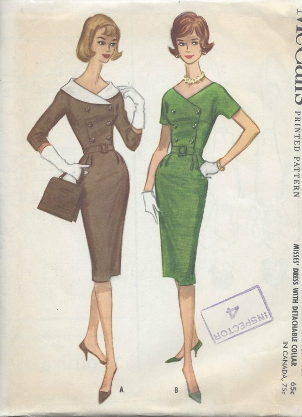 1960-Vintage-Sewing-Pattern-B34-DRESS-R784-251188824912