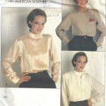 1980s-Vintage-VOGUE-Sewing-Pattern-B34-36-38-BLOUSE-1709-By-Calvin-Klein-252484430062