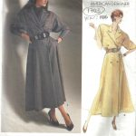 1986-Vintage-VOGUE-Sewing-Pattern-MOCK-WRAP-DRESS-B36-38-40-1703-RALPH-LAUREN-252484232772
