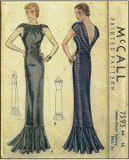 1939-Vintage-Sewing-Pattern-B32-EVENING-DRESS-R956-261203683893