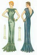 1939-Vintage-Sewing-Pattern-B32-EVENING-DRESS-R956-261203683893-3