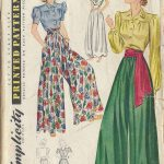 1940-Vintage-Sewing-Pattern-B32-W27-BLOUSE-TROUSERS-CULOTTE-R234-251143243813