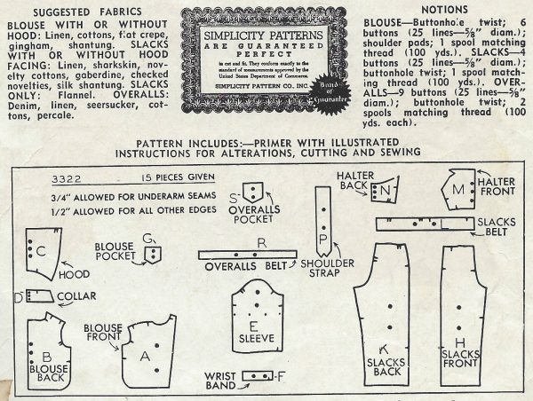 1940-Vintage-Sewing-Pattern-B40-W34-BLOUSE-TROUSERS-OVERALLS-1228-9-261645651143-2